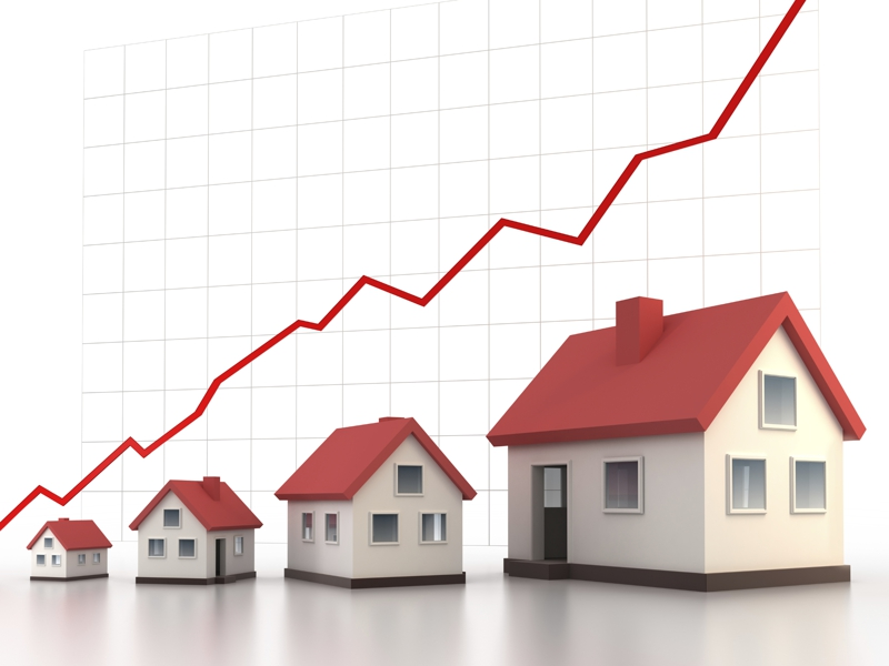 As pictured, successful investments will allow you to buy progressively larger houses.
