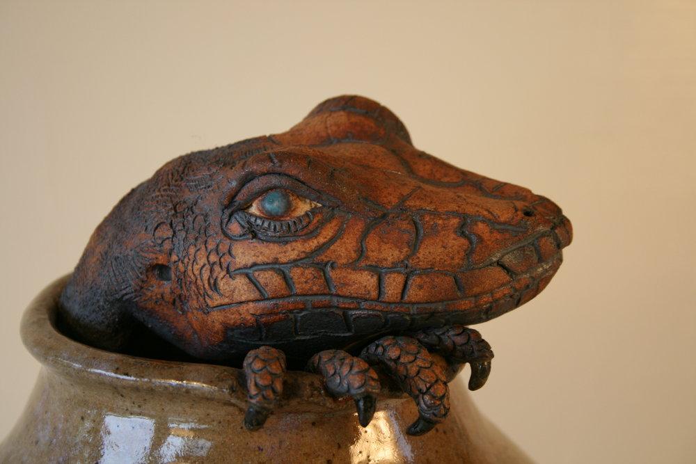 Claw Pot series  Lizard's Dilemma  detail.jpg