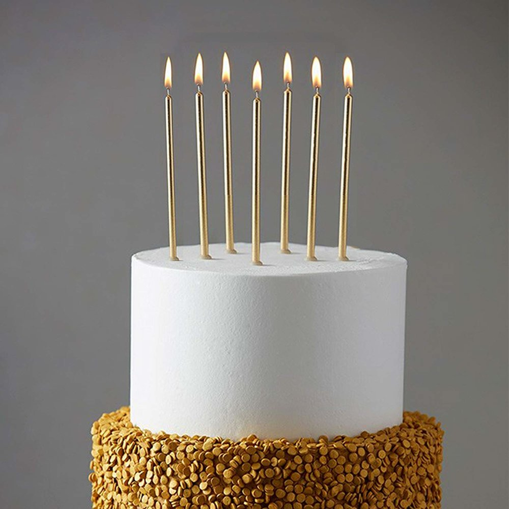 Skinny Gold Candles
