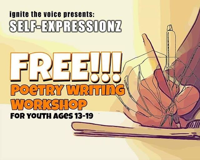 Week 3 of our FREE Poetry Workshop is coming up this Saturday, Mar 23rd... 10 am -12 pm. Participation is open to 13 - 19 year olds. Workshop is held at the Citywide Youth Coalition space on Chapel St.  Contact youthprograms@ignitethevoice.org with any questions.