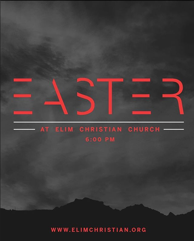 There is hope, Jesus is alive! Come celebrate Easter with us this Sunday at 6pm! We can't wait to see YOU!