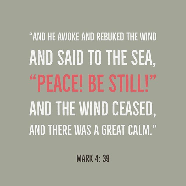 Are you facing some rough seas today? Speak in faith to the seas and rebuke the raging winds to bring back the great calm you need. Jesus did it! Will you?