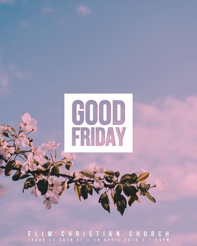 Join us this Friday for our Good Friday service! We look forward to seeing you and your family!