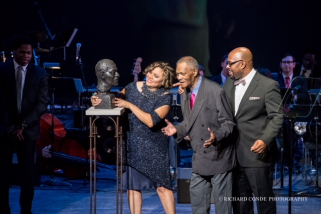 McCoy Tyner receiving final bust cast in Bronze