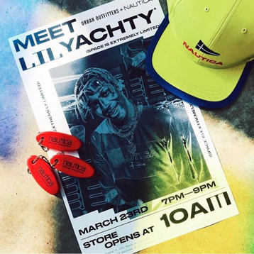 On Thursday from 7-9 p.m., Lil Yachty will visit the Urban Outfitters on Ponce de Leon Avenue in Atlanta and meet fans who purchase an item from newly collaborated line of Nautica (which Lil Yachty was recently named the creative director of). Items will be available for purchase during the event.