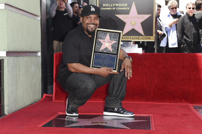 Rapper, actor, and producer Ice Cube received a star on the Hollywood Walk of Fame on Monday. Ice Cube's star was unveiled outside the Musician's Institute in Hollywood, where fans and fellow entertainment heavy hitters gathered to celebrate Ice Cube's accomplishments.