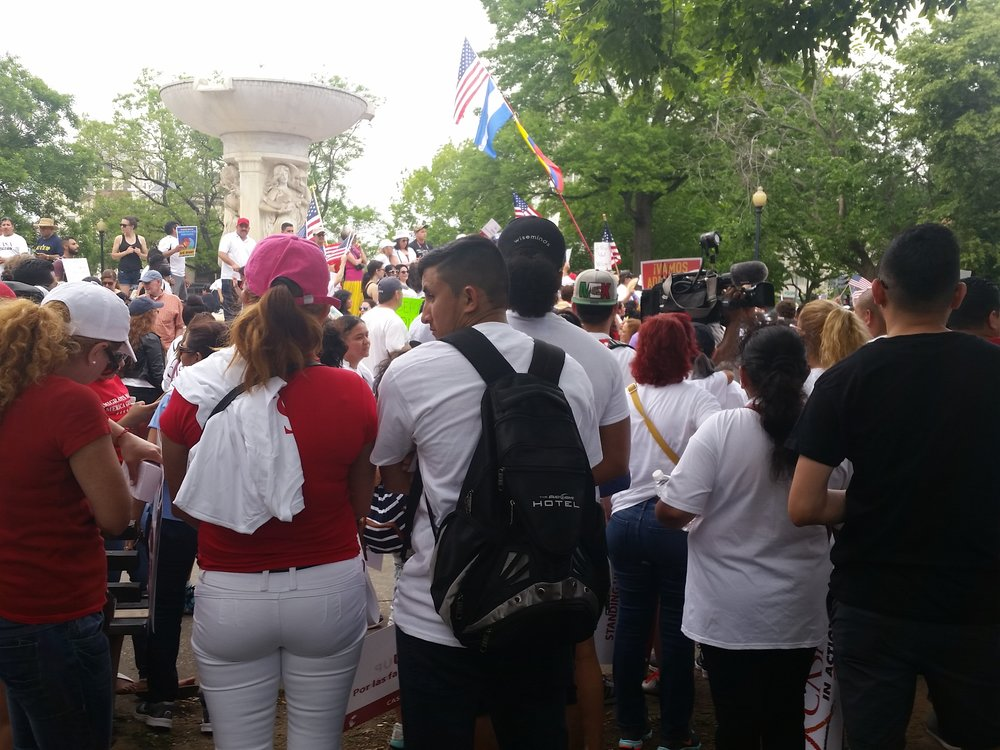 """Day Without Immigrants"" Protest, Washington, D.C., 1 May 2017. Photo credit: Sanjida Rangwala"