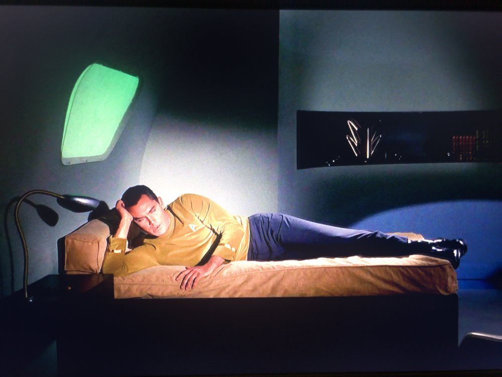 Captain Christopher Pike, lounging in his ennui.