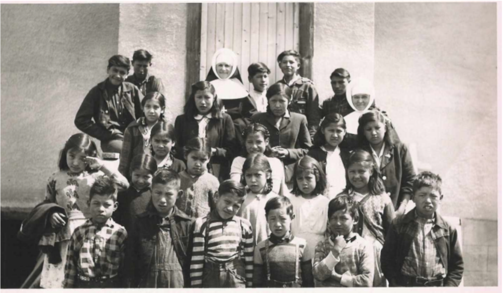 Photographs of students at Ermineskin Indian Residential School, Hobbema, AB, c. 1940-60.  Engracia De Jesus Matias Archives and Special Collections,  Algoma University.