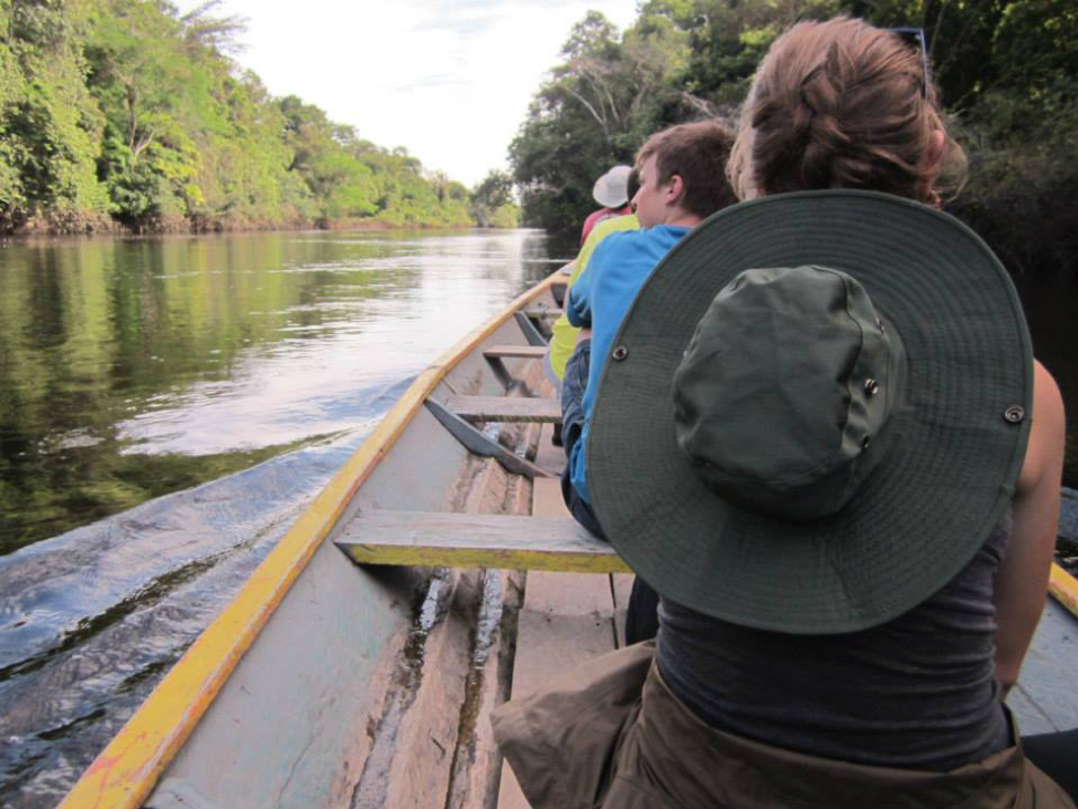 Boating along the Amazon River. Photo credit: Marnie Sullivan.