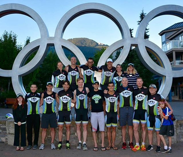 Big @teamvo2multi crew racked and ready for tomorrow @ironmantri #imcanada and #im703canada Good luck everyone racing tomorrow!!