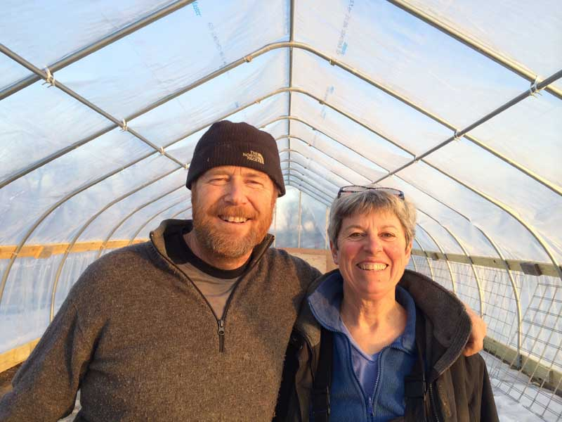 Kennebec Cheesery - Meet Jean and Peter Koons! They, handcraft small batch artisan cheese and yoghurt from their Alpine and Saanen goats and organic Jersery cows' milk from nearby Woodside farm. Their goats are raised on pasture and GMO free grain and their cheesery is solar-powered. They make a wide variety of fresh and aged cheeses that reflect their family roots, bringing pastoral skills and recipes from New Zealand to Maine at their family farm in Sidney. You can learn more about Kennebec Cheesery here.