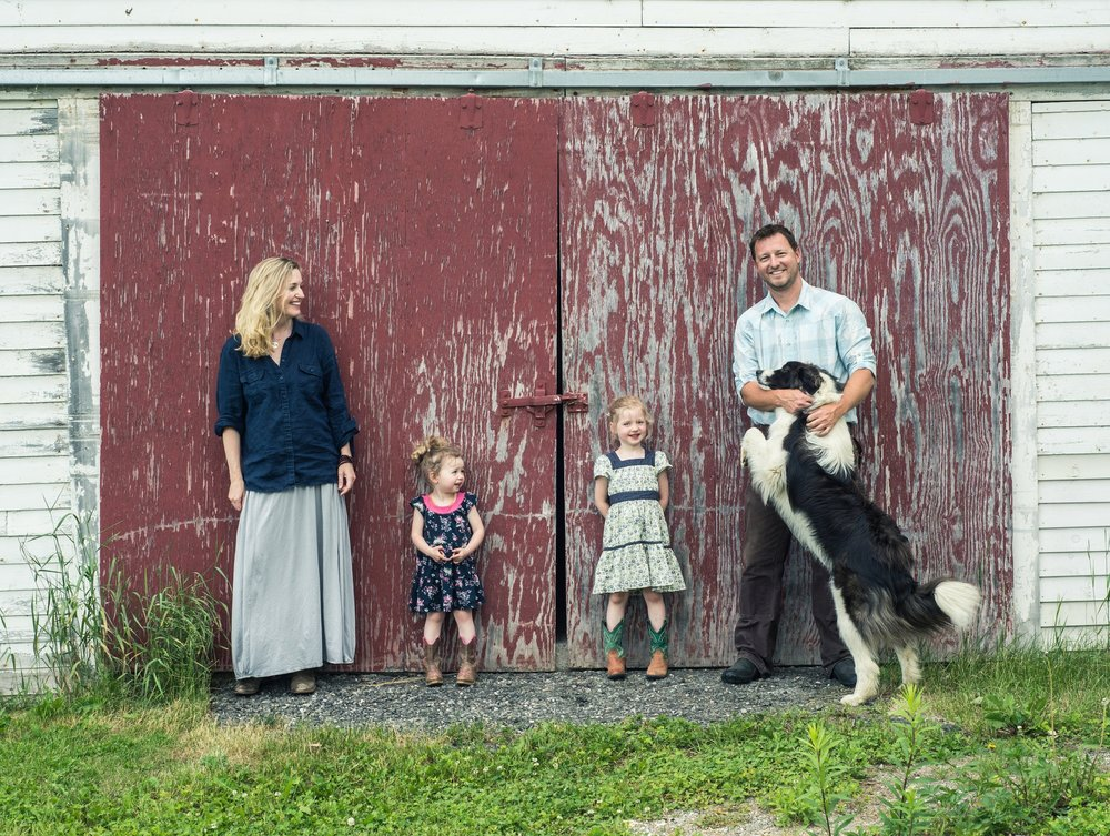 Cold Spring Ranch - Meet Gabe and Molly Clark and their beautiful Girls!On their Ranch in New Portland, ME, Gabe and Molly raise 100% grass fed beef that is GMO-free and certified to meet Global Animal Partnership animal welfare standards. They also raise a cross of heritage breed pigs for pastured pork. All of their animals are born, raised, and butchered in Maine. They sustainably manage over 600 acres of pastures, hayfields and woodlands in the mountains of Western Maine with the belief that healthy fields and forests provide abundant habitat for wildlife and the finest tasting meat. They offer beef and pork year round; processing animals weekly so that fresh product is always available. They hope you enjoy their meat as much as they enjoy raising it. You can read more about their operation here.