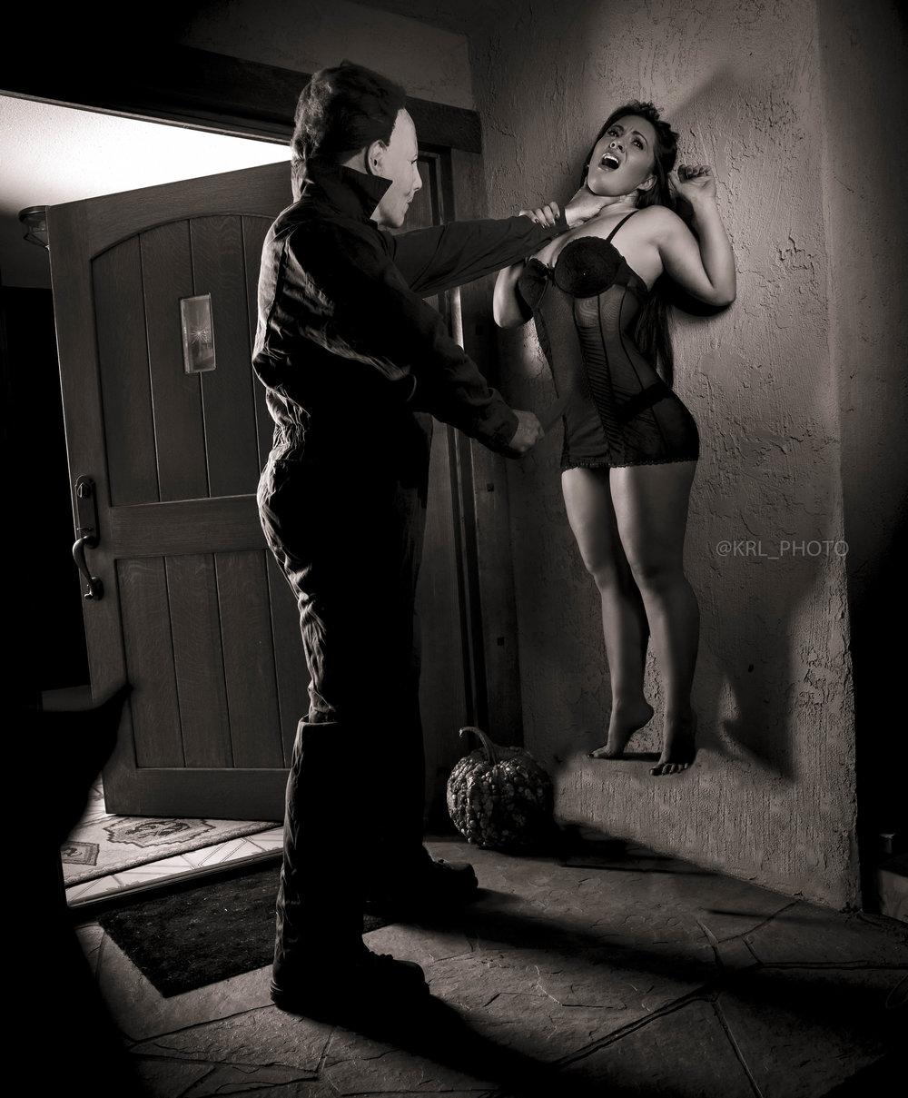 Michael Myers Chokeout BW.jpg