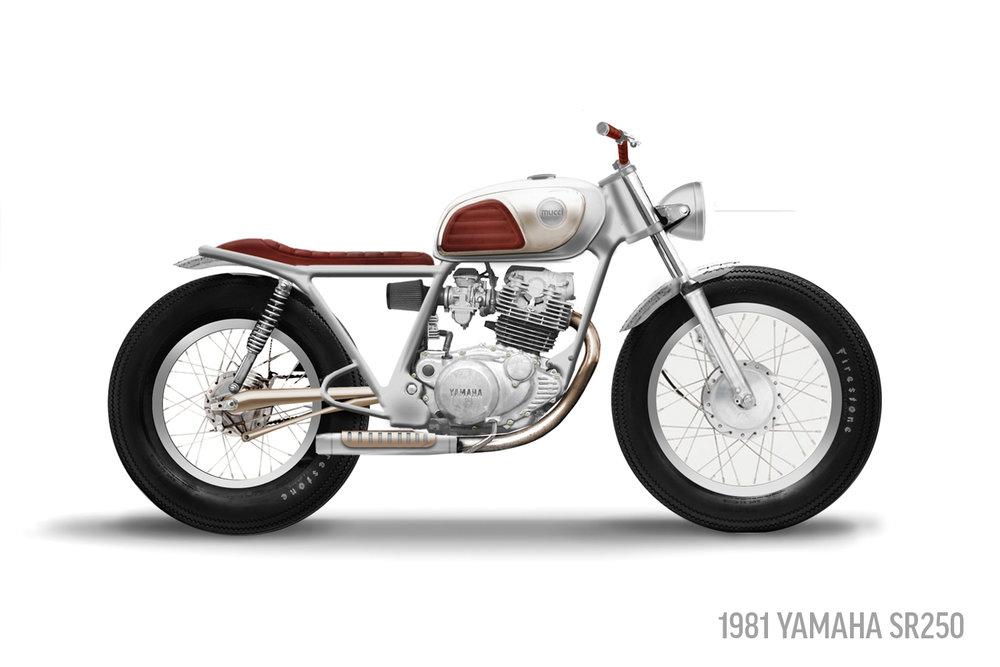 1981 Yamaha SR250 Sketch