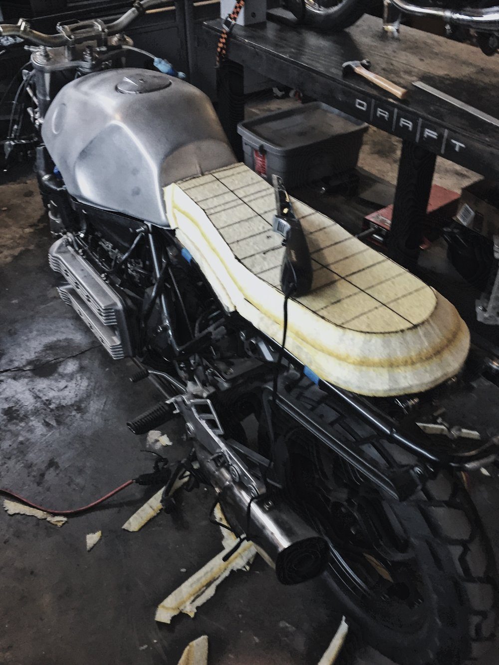 Custom Motorcycle Seat Foam Carving_Moto-Mucci 5
