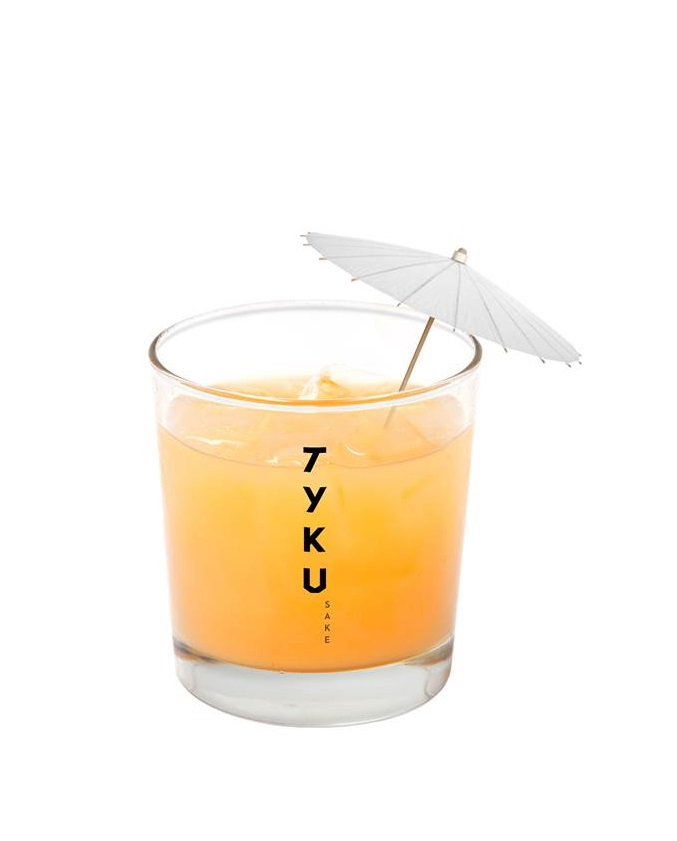 TYKU Premium  Junmai Mango Cocktail