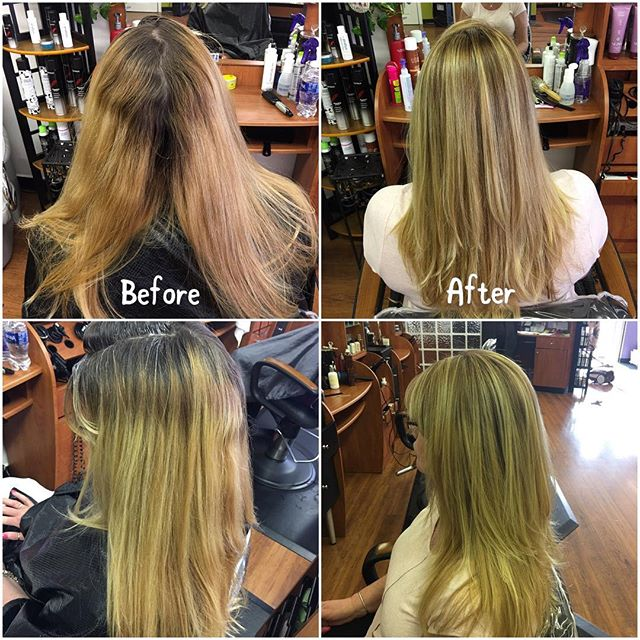 Today's color correction done by our stylist Cinthia Hannington! 💇🏼