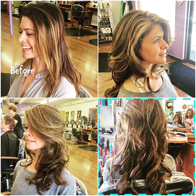 Highlights, cut, and blow out done by Michelle. 💇🏼 #summerbeauty #lightenedup #freshcut #makeyourappointments