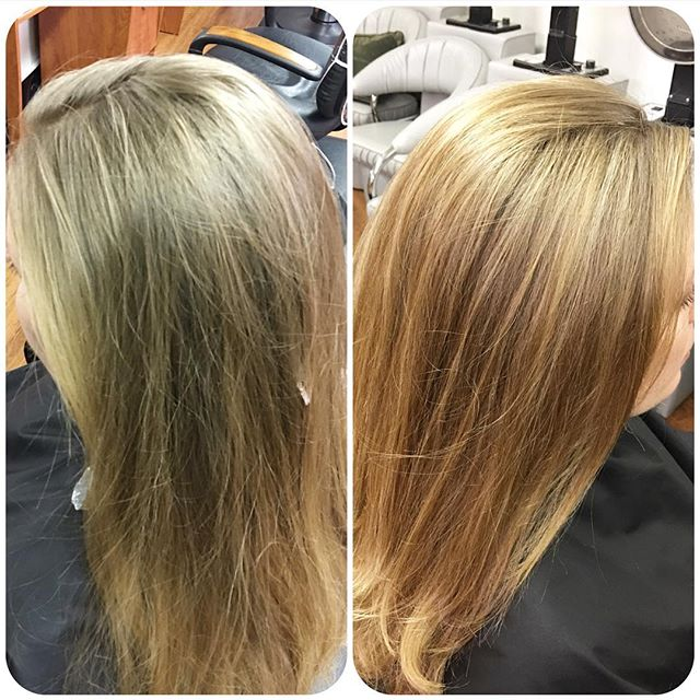 From drab to fab, just like that! Let us brighten your look too! Call today!  508-429-2287 *Highlights, cut and style by Cinthia