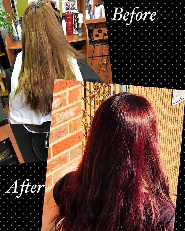Transformation by Britt! #newlook #redhair #wemakeyoulookgood #bookyourappointmentstoday 💇‍♀️💁‍♀️
