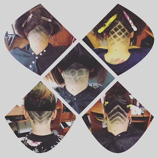 Undercut designs by Cinthia 💇‍♀️ #trendyhair #coolhair #salonedebella
