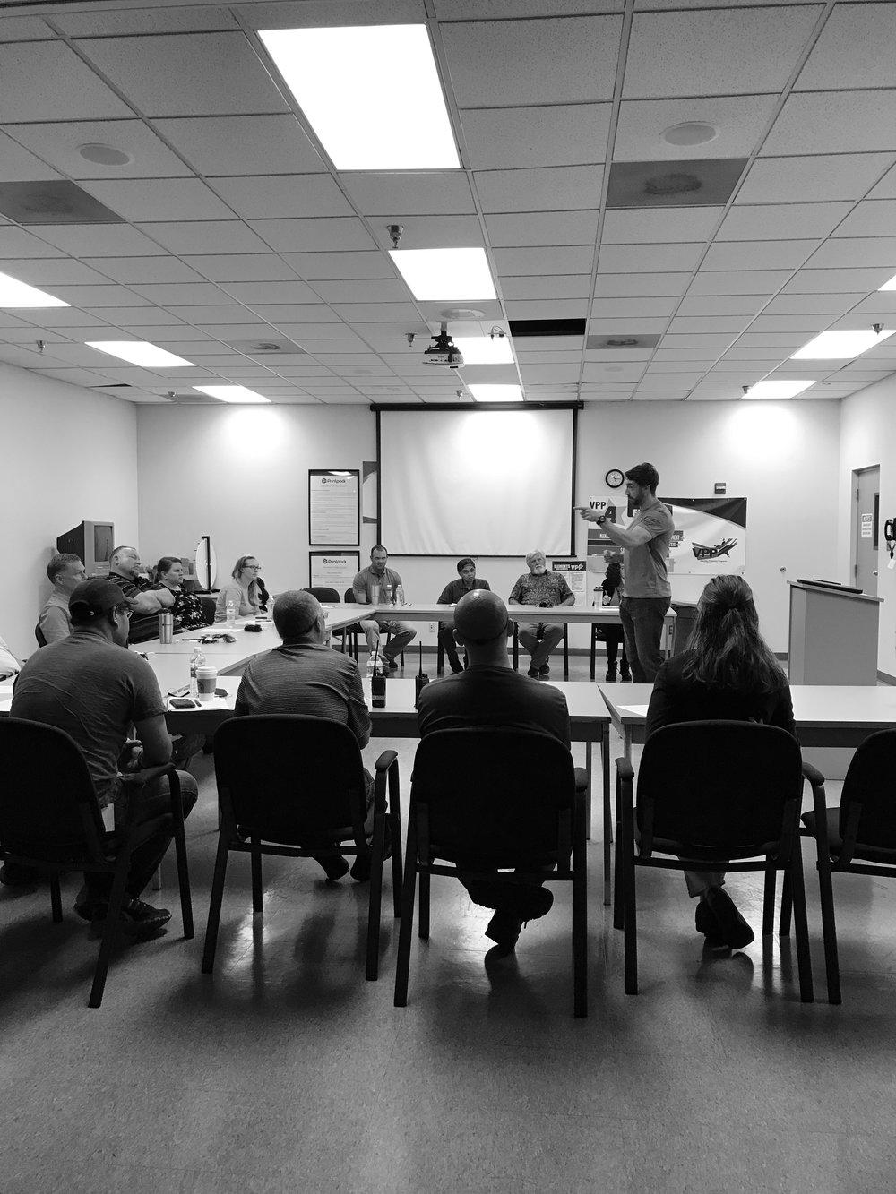Nutrition seminar at Printpack, July 2017.
