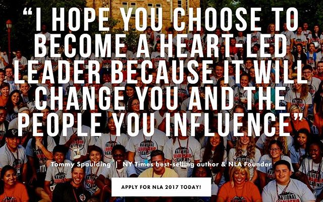 Will you choose to become a ❤️-led Leader? Join us at #NLA2017. Apply online today. Link in bio #WhatMoreCanIDo?
