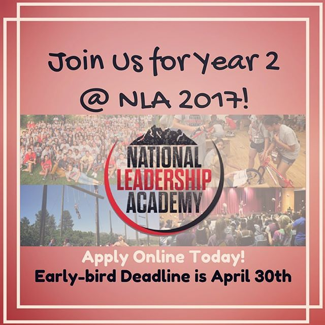 💥Who is coming to #nla2017?! Early-bird deadline is April 30th • Apply online today! • link in bio ❤️