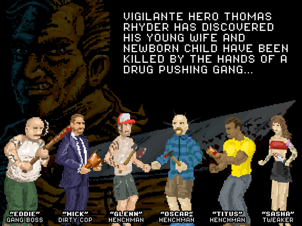 INTRO SCREEN 1 - The first of 3 screens describing the storyline and characters