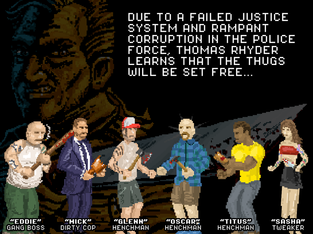 INTRO SCREEN 2 - The second of 3 screens describing the storyline and characters