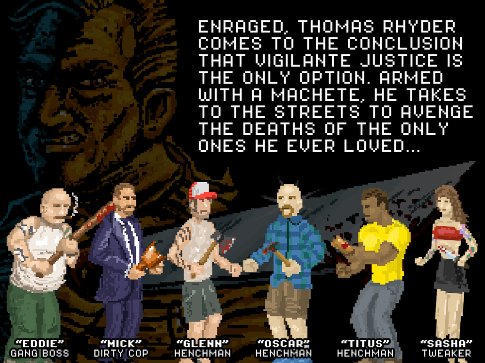 INTRO SCREEN 3 - The final of 3 screens describing the storyline and characters. After this screen, gameplay starts