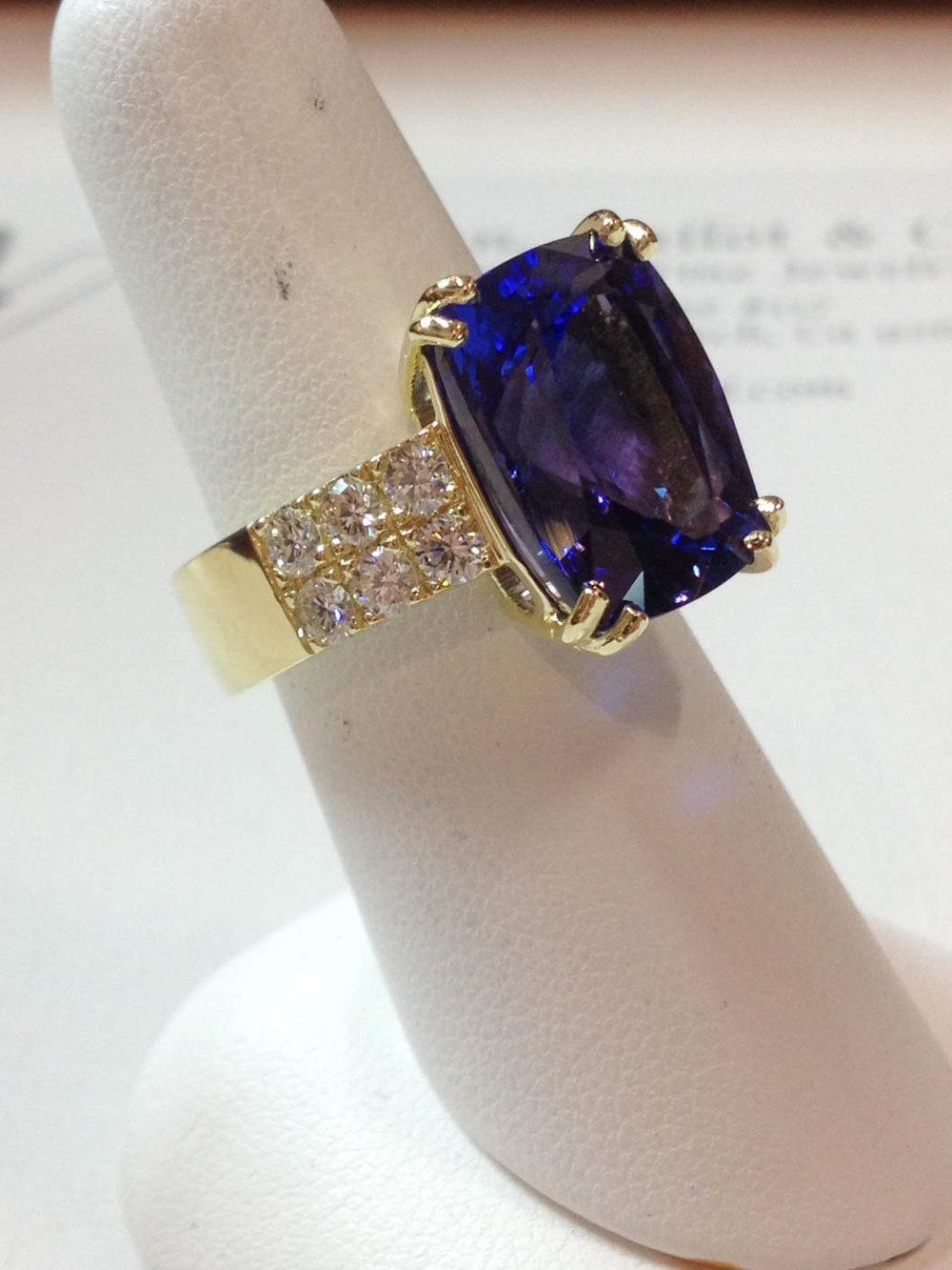 Copy of Tanzanite & Diamond Ring