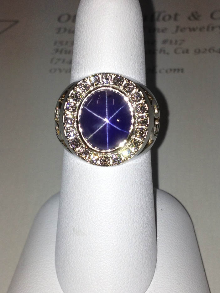 Copy of Star Sapphire and Diamond Ring