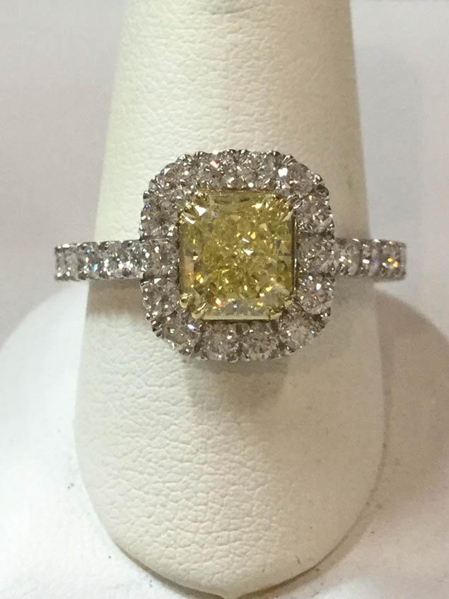 Copy of Canary Diamond Ring