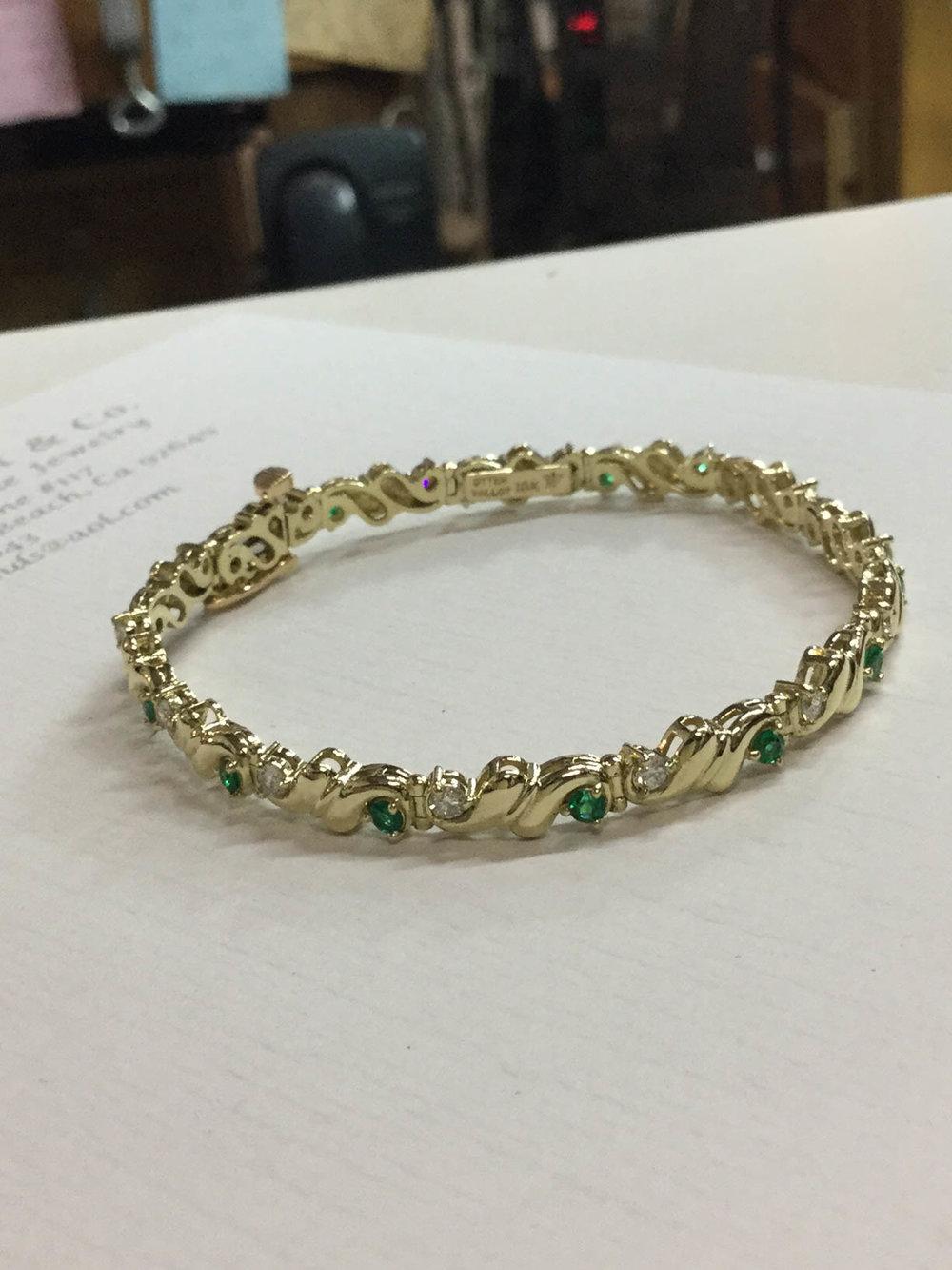 Copy of Emerald and Diamond Bracelet
