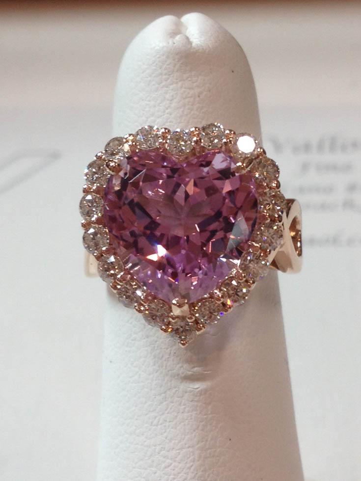 Copy of Morganite and Diamond Ring