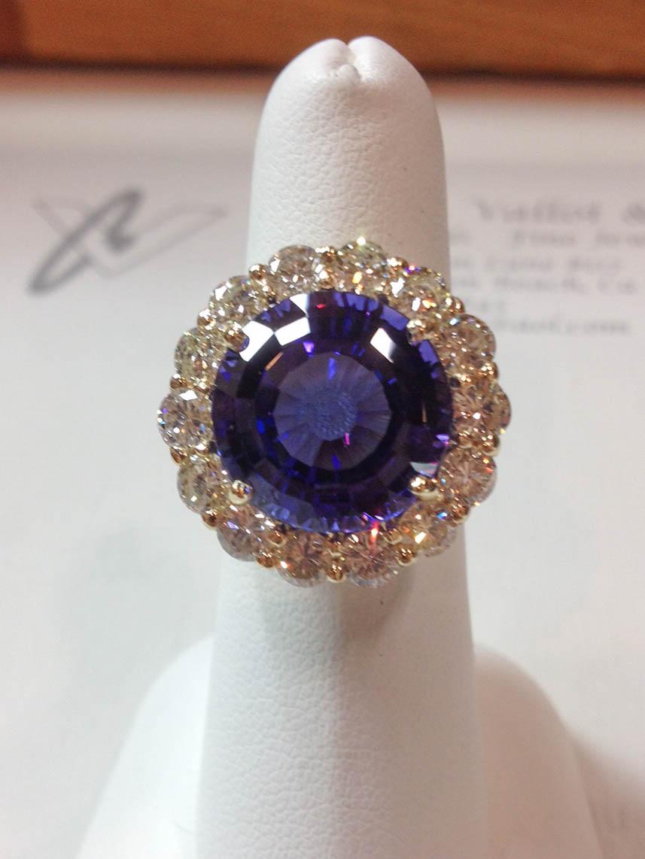Copy of Tanzanite and Diamond Ring