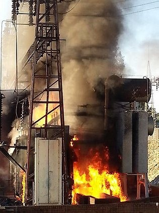 Lake Hume Power Plant Fire, image provided by The Australian