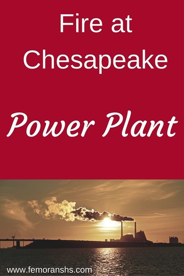 Fire at Chesapeake Power Plant | F.E. Moran Special Hazard Systems | Keywords:  power plant, fire protection, fire sprinklers