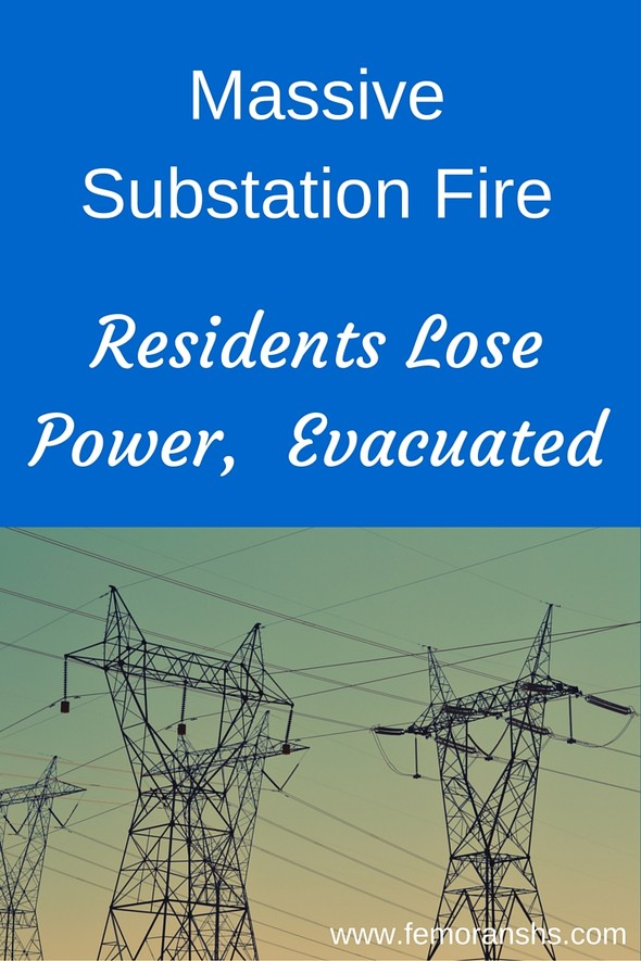 Massive Substation Fire | F.E. Moran Special Hazard Systems | Keywords:  power plant, fire protection, fire sprinklers