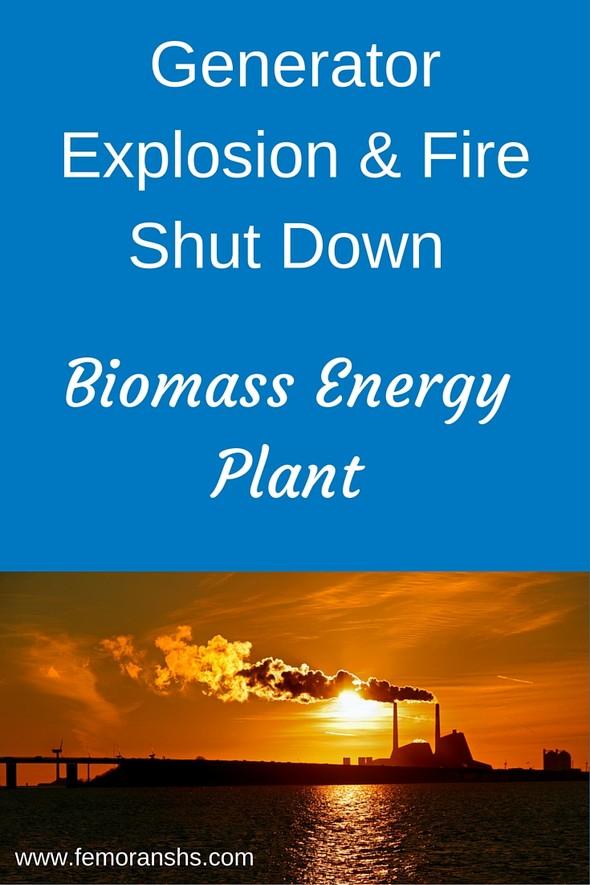 Generator Explosion & Fire Shut Down Biomass Power Plant | F.E. Moran Special Hazard Systems (www.femoranshs.com)