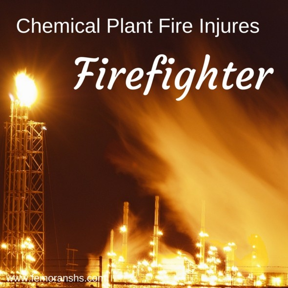 Chemical Plant Fire Injures Firefighter | F.E. Moran Special Hazard Systems