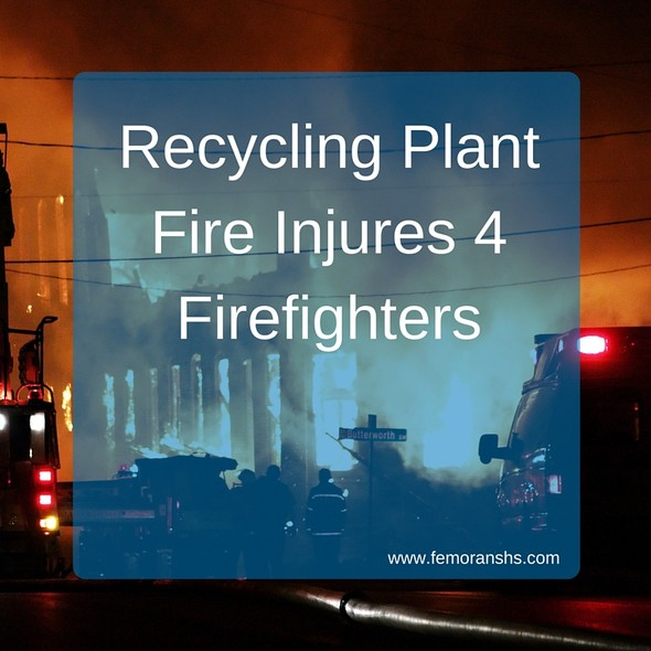Recycling Plant Fire | F.E. Moran Special Hazard Systems