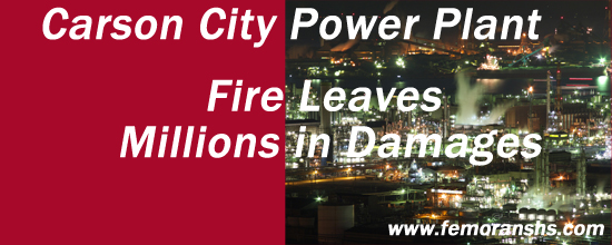 Carson City Power Plant Fire Leaves Millions in Damages | F.E. Moran Special Hazard Systems