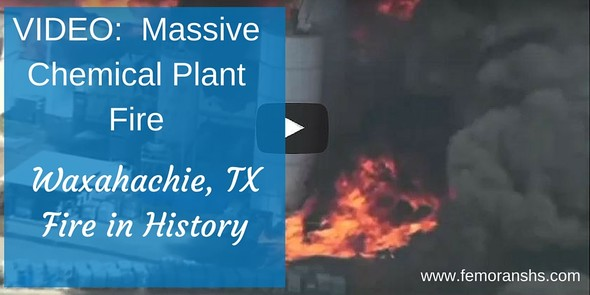 Video:  Massive Chemical Plant Fire | F.E. Moran Special Hazard Systems