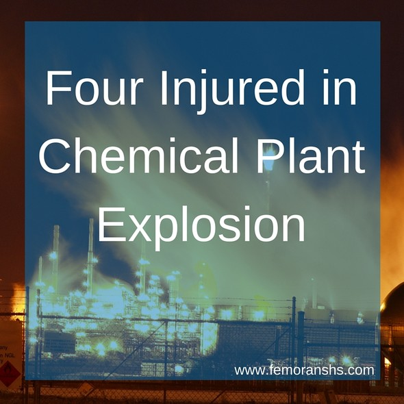 Four Injured in Chemical Plant Explosion