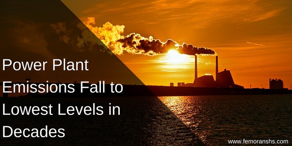 Power Plant Emissions Fall to Lowest Levels in Decades