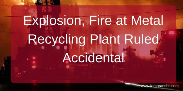 Explosion and Fire at Recycling Plant