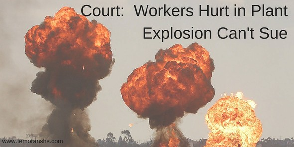 workers cannot sue in power plant explosion